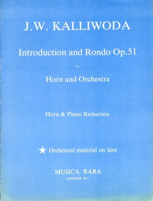 Introduction And Rondo Opus 51 J.W. Kalliwoda Partition laflutedepan