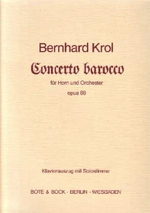Bernhard Krol - Concerto Barocco Opus 86 - Partition - di-arezzo.fr