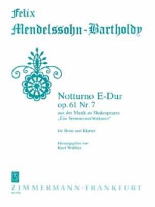 MENDELSSOHN - Notturno E-Dur Opus 61 Nr. 7 - Noten - di-arezzo.de