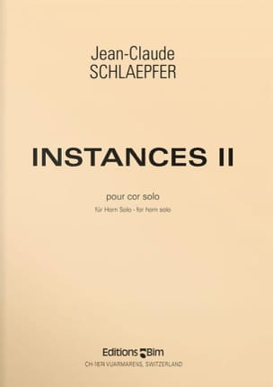 Jean-Claude Schlaepfer - Instances II - Sheet Music - di-arezzo.com