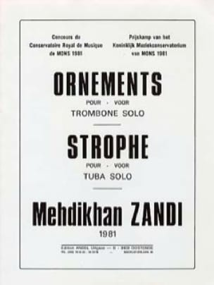 Mehdikhan Zandi - Ornements / strophe - Partition - di-arezzo.fr