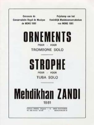 Mehdikhan Zandi - Ornaments / stanza - Sheet Music - di-arezzo.com