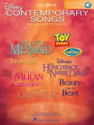Disney Contemporary Songs - High Voice - DISNEY - laflutedepan.com