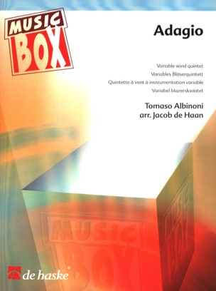 Tomaso Albinoni - Adagio - music box - Sheet Music - di-arezzo.co.uk