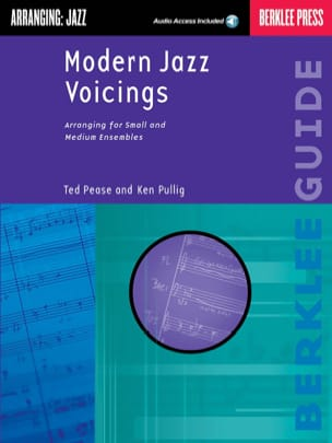 Pease Ted / Pullig Ken - Modern Jazz Voicings - Partition - di-arezzo.fr