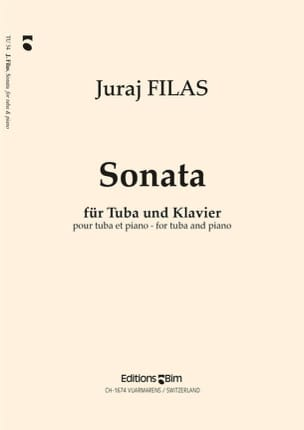 Sonate - Juraj Filas - Partition - Tuba - laflutedepan.com