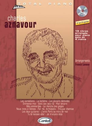 Charles Aznavour - Collection Total Piano - Partition - di-arezzo.fr