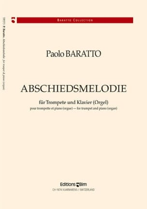 Abschiedsmelodie Paolo Baratto Partition Trompette - laflutedepan