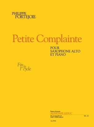 Philippe Portejoie - Petite Complainte - Partition - di-arezzo.fr