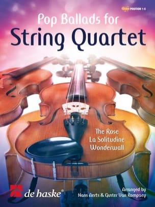 - Pop Ballads For String Quartet - Partition - di-arezzo.fr