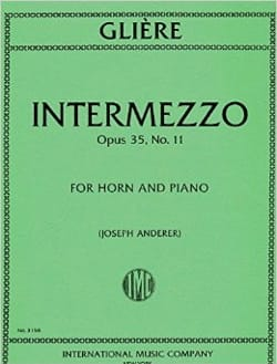 Reinhold Glière - Intermezzo Opus 35 N° 11 - Partition - di-arezzo.fr