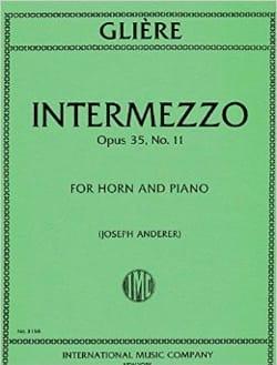 Intermezzo Opus 35 N° 11 Reinhold Glière Partition Cor - laflutedepan