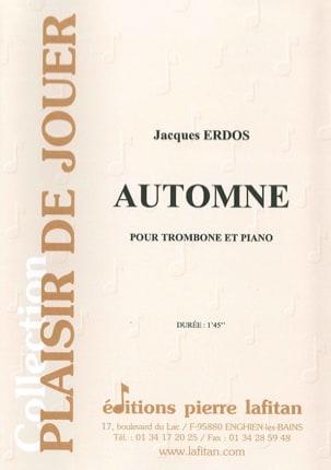 Automne - Jacques Erdos - Partition - Trombone - laflutedepan.com