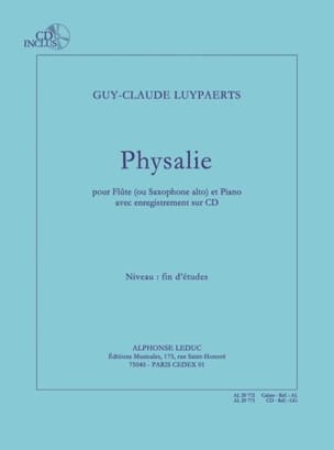 Guy-Claude Luypaerts - Physalie - Partition - di-arezzo.fr