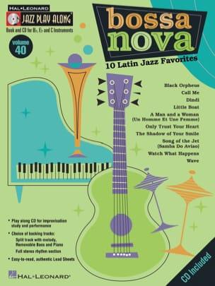 Jazz play-along volume 40 - Bossa Nova Partition Jazz - laflutedepan