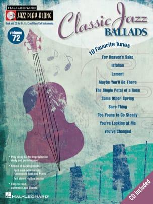 - Jazz play-along volume 72 - Classic Jazz Ballads - Partition - di-arezzo.fr