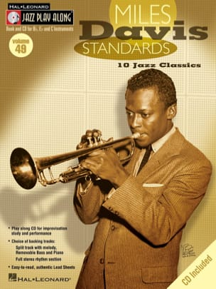 Miles Davis - Jazz play-along volume 49 - Miles Davis Standards - Partition - di-arezzo.fr