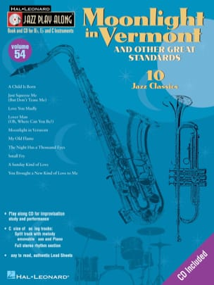 - Jazz play-along volume 54 - Moonlight In Vermont - Sheet Music - di-arezzo.co.uk