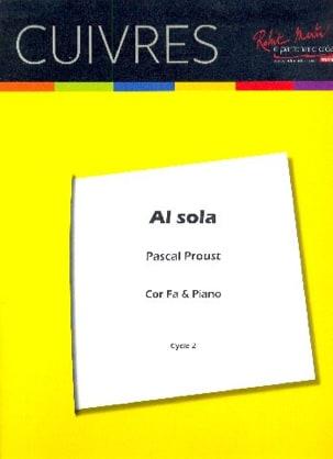Pascal Proust - Al sola - Partition - di-arezzo.fr