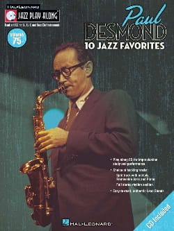Paul Desmond - Jazz play-along volume 75 - Paul Desmond - Partition - di-arezzo.fr