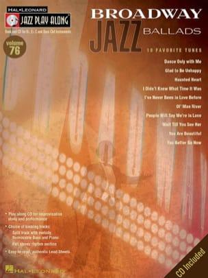 - Jazz play-along volume 76 - Broadway Jazz Ballads - Partition - di-arezzo.fr