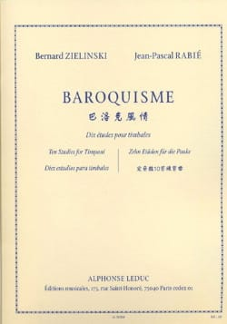 Bernard Zielinski & Jean-Pascal Rabié - Baroque, Ten Studies For Timpani - Sheet Music - di-arezzo.co.uk