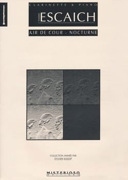 Air de Cour - Nocturne Thierry Escaich Partition laflutedepan