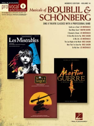 Alain Boublil & Claude-Michel Schönberg - Pro Vocal Women's Edition Volume 14 - Musicals of Boublil & Schönberg - Partition - di-arezzo.fr