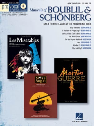 Pro Vocal Men's Edition Volume 18 - Musicals Of Boublil & Schönberg laflutedepan