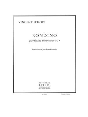 Rondino Vincent D' Indy Partition Trompette - laflutedepan