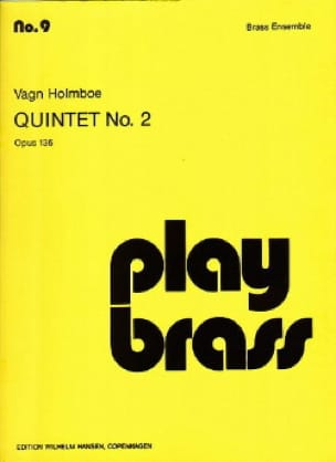 Vagn Holmboe - Quintet N° 2 Opus 136 - Partition - di-arezzo.fr