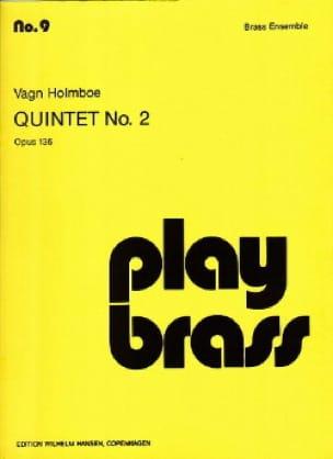 Vagn Holmboe - Quintet N ° 2 Opus 136 - Sheet Music - di-arezzo.com