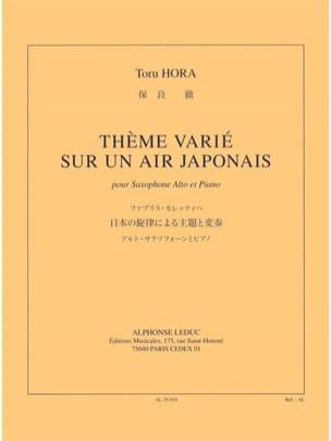 Thème Varié Sur Un Air Japonais - Toru Hora - laflutedepan.com
