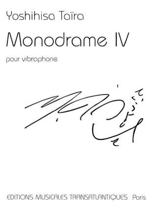 Yoshihisa Taïra - Monodrame 4 - Partition - di-arezzo.fr