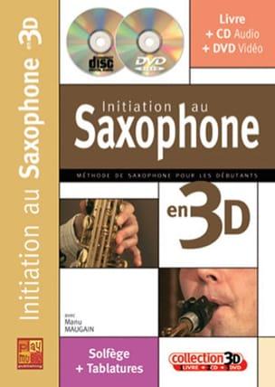 Initiation Au Saxophone En 3D Manu Maugain Partition laflutedepan
