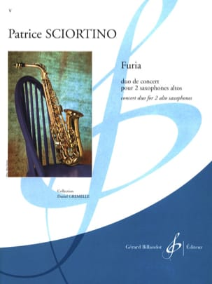 Furia - Patrice Sciortino - Partition - Saxophone - laflutedepan.com