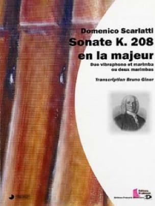 Sonate k.208 en la majeur SCARLATTI Partition laflutedepan