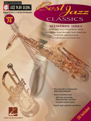 Jazz play-along volume 74 - Best Jazz Classics - laflutedepan.com