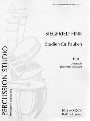 Siegfried Fink - Studies For Timpani Volume 1. Elementary - Sheet Music - di-arezzo.co.uk