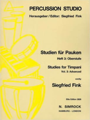 Siegfried Fink - Studies For Timpani Volume 3 - Advanced - Sheet Music - di-arezzo.com