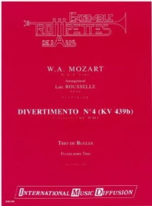 Wolfgang Amadeus Mozart - Divertimento N° 4 KV 439b - Partition - di-arezzo.fr