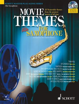 Movie Themes For Alto Saxophone - Partition - laflutedepan.com