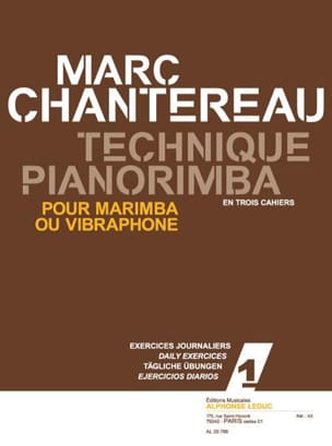 Marc Chantereau - Pianorimba Technique Workbook 1 - Ejercicios diarios - Partitura - di-arezzo.es