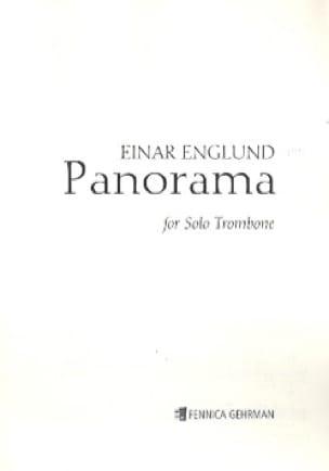 Panorama - Einar Englund - Partition - Trombone - laflutedepan.com