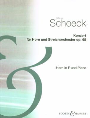 Othmar Schoeck - Konzert Opus 65 - Partition - di-arezzo.fr