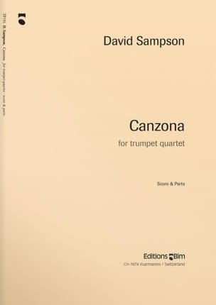 Canzona - David Sampson - Partition - Trompette - laflutedepan.com