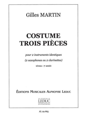 Gilles Martin - Three-pieces suit - Sheet Music - di-arezzo.com