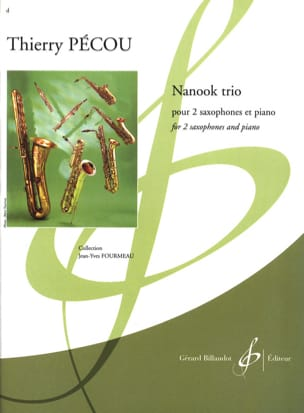 Thierry Pécou - Nanook Trio - Partition - di-arezzo.fr