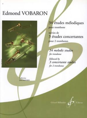 Edmond Vobaron - 34 Etudes Mélodiques (Trb) / 3 Etudes Concertantes (2 Trbs) - Partition - di-arezzo.fr