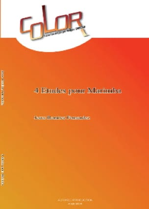 Fernandez Jesus Ramirez - 4 Studies For Marimba - Sheet Music - di-arezzo.co.uk